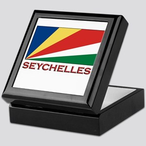 Seychelles Flag Gear Keepsake Box